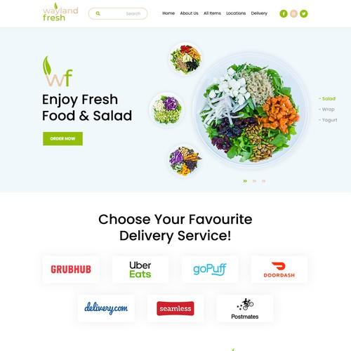 Wayland Fresh - Food & Salad Company Website Design