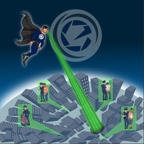 Create a Superhero illustration to describe our business works