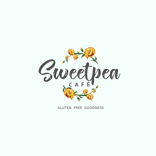 logo design for sweetpea cafe
