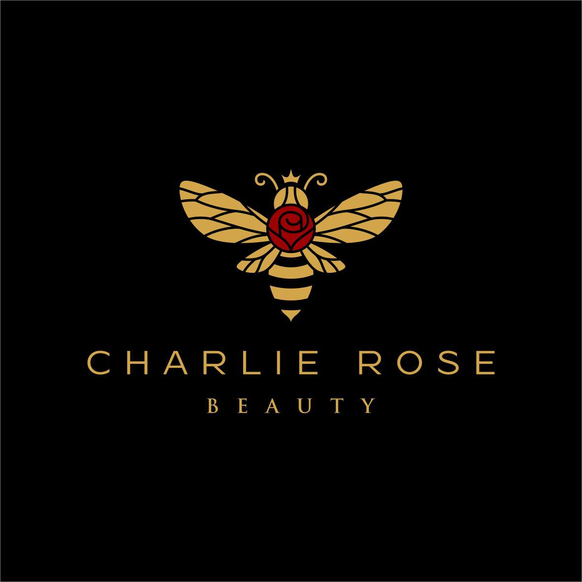 Glamorous Cosmetic Logo for Charlie Rose Beauty