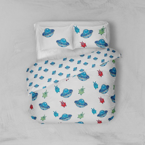 Pattern for childrens bed linen