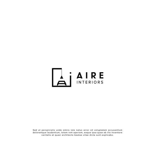 Minimal interior design logo