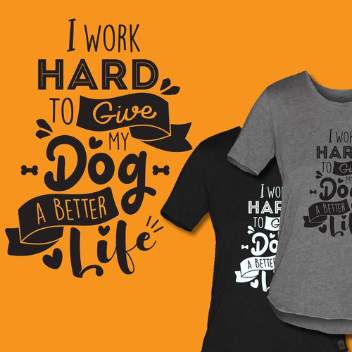 t-shirt design for dog lover
