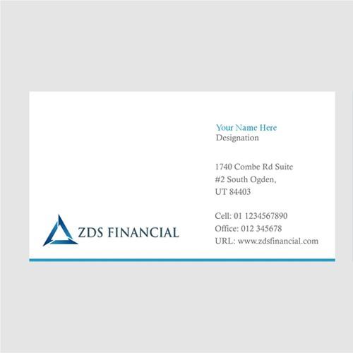 Create Financial Business Card