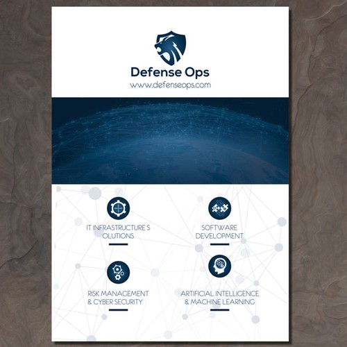 Defense Contracting Design Brochure