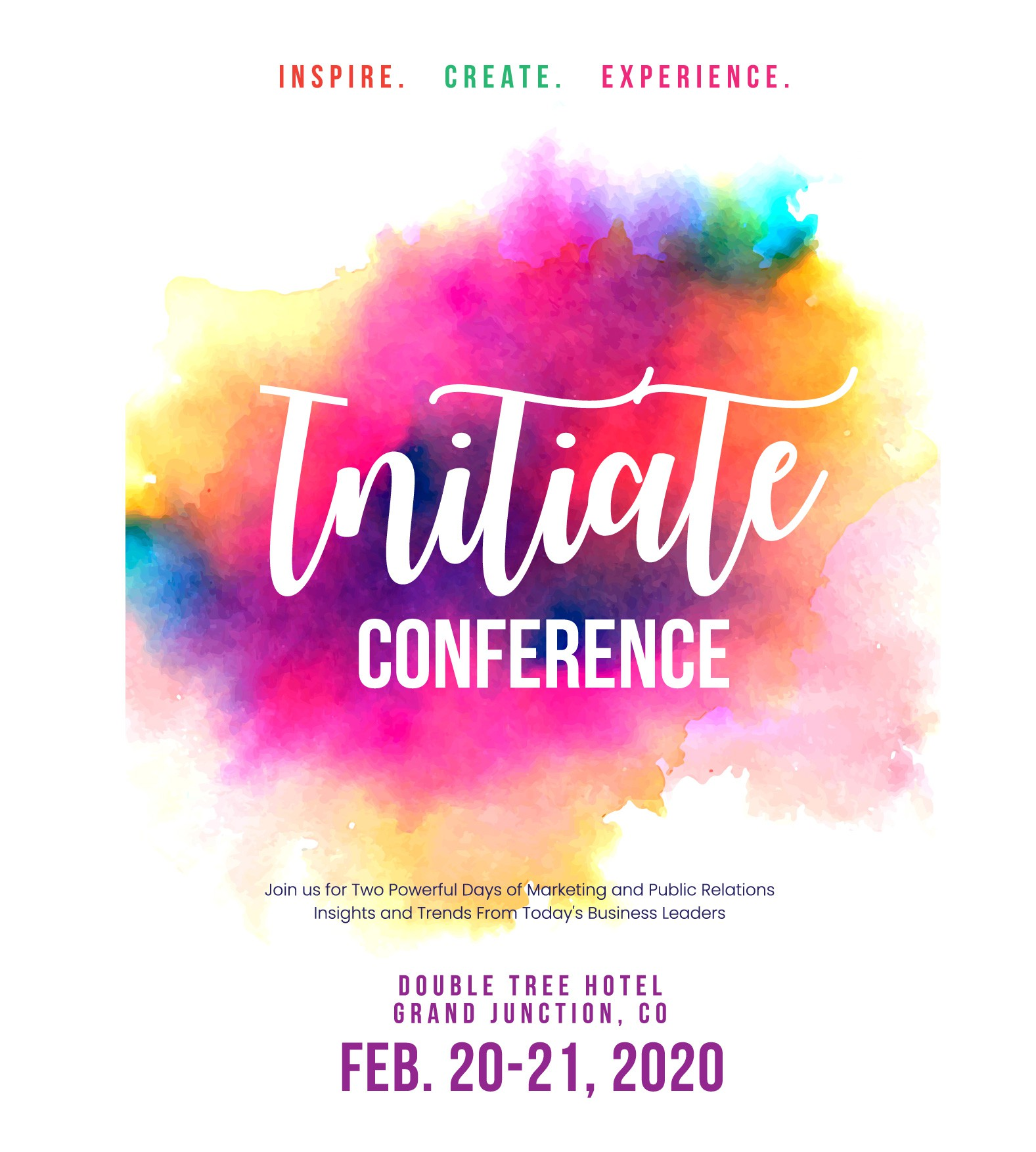Inspire. Create. Experience. Initiate Conference 2020