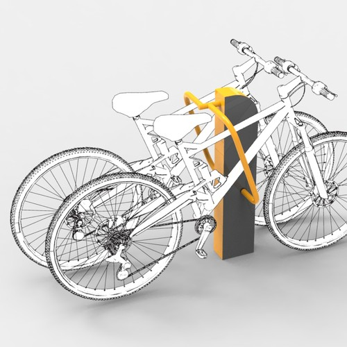 bicycle parking rack concept