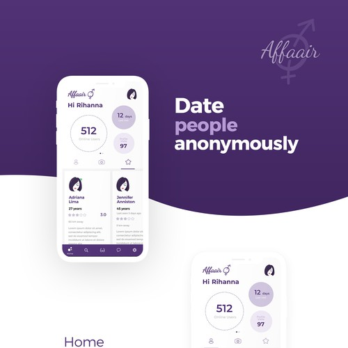 Anonymous dating app