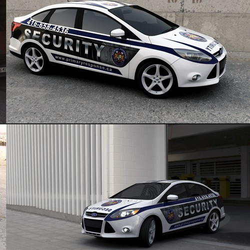 Ford Focus full wrap for a security company