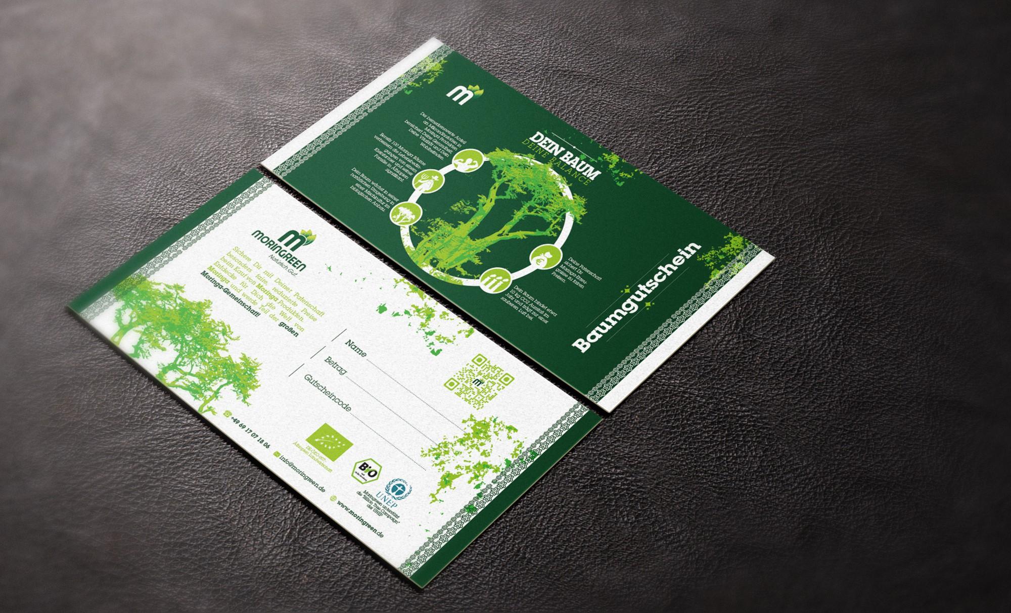 Baum Gutschein/Zertifikat für crowdfunding Kampgne