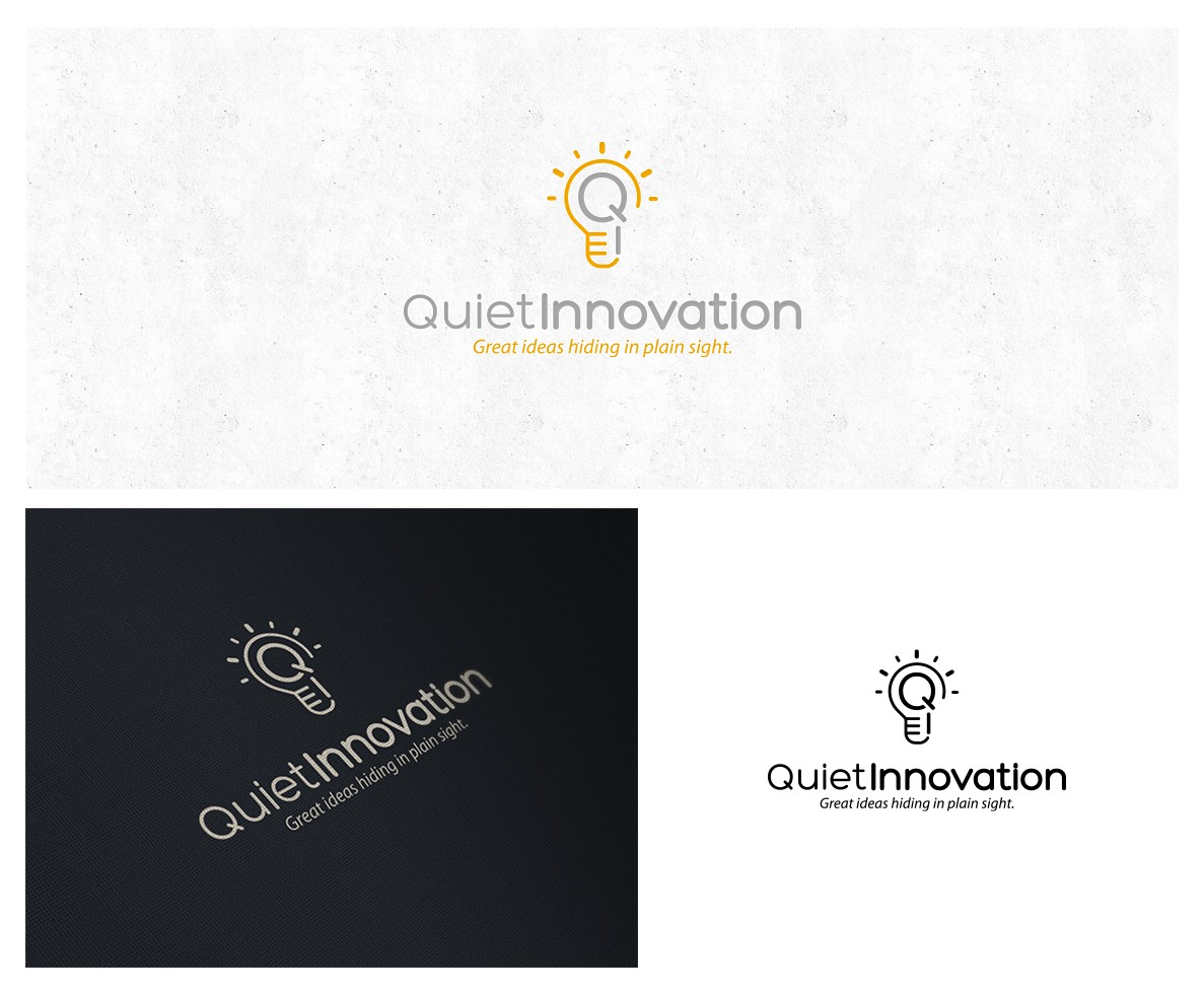 """New logo for website and podcast of """"Quiet Innovation"""""""