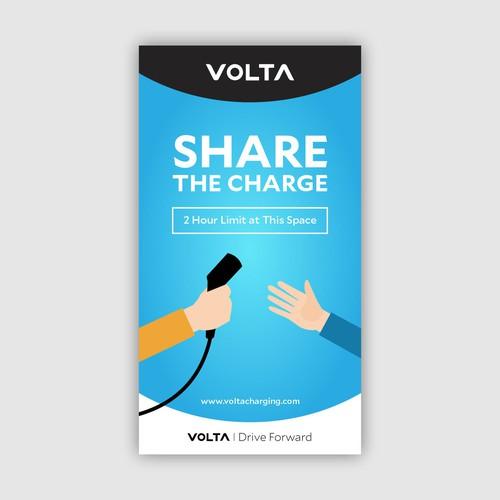 Signage design for Volta
