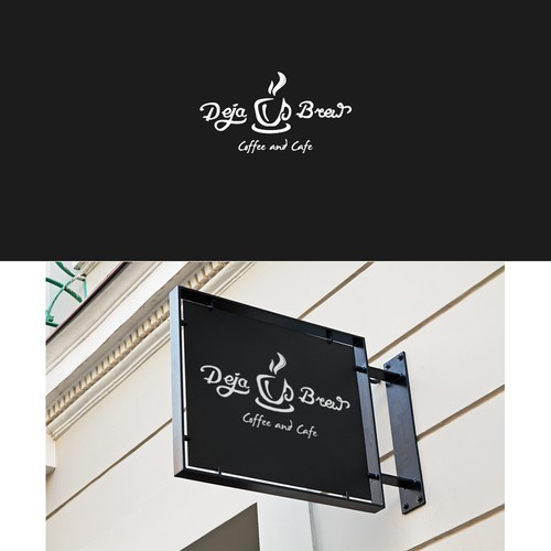 Deja Brew Coffee and Cafe logo concept