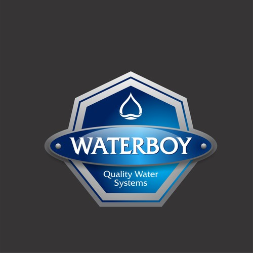 WATERBOY Quality Water Systems. Brand label design