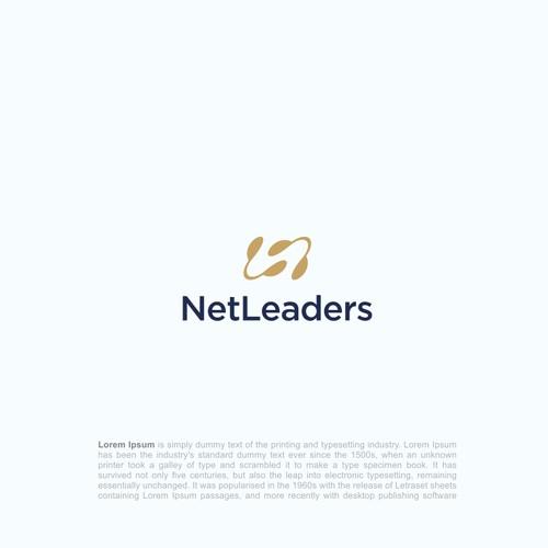 leadership + letter N logo + tech feel logo concept