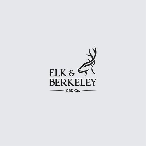 Logo concept for Elk & Berkeley CBD Co.