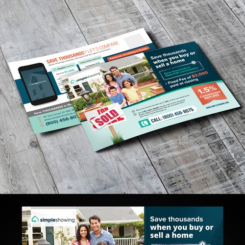 Post card for real estate company