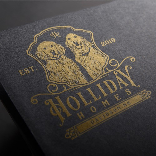 Holliday Homes logo design