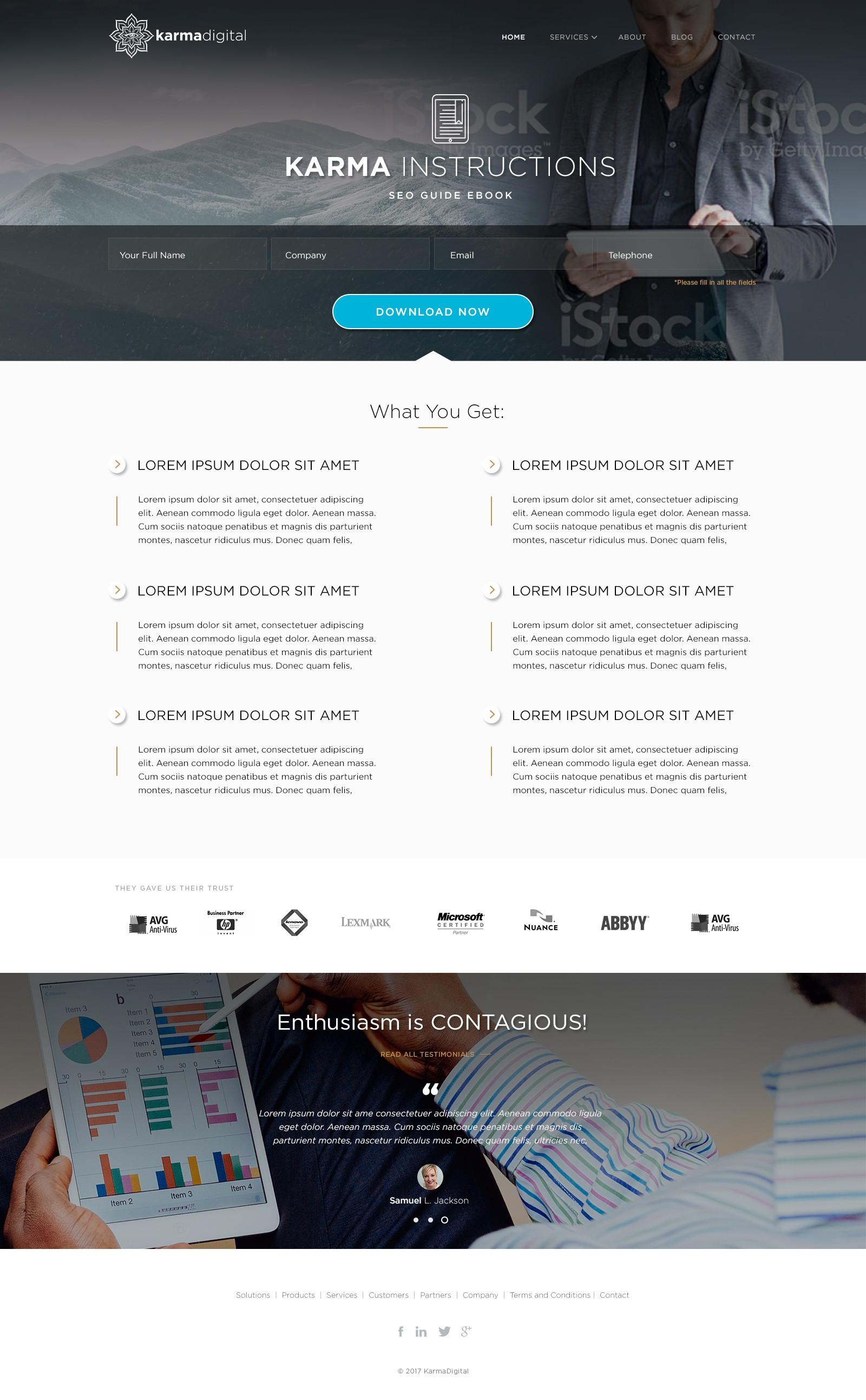 Fun Boutique Digital Agency needs Focused CTA designed Site