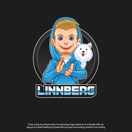 Twitch Streamer Logo design for «Linnberg» Contest Entry