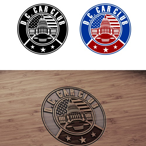 Create a unique logo for Washington, D.C. Car Club