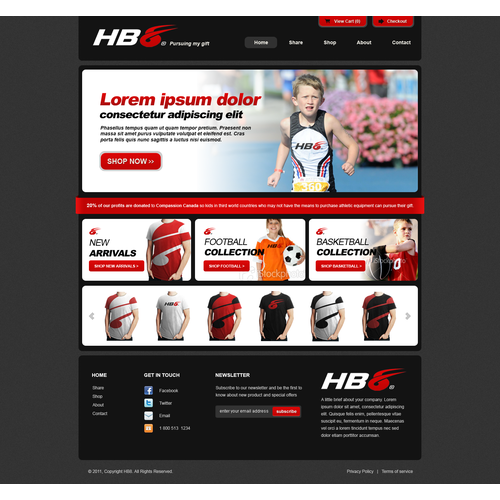 website design for HB8