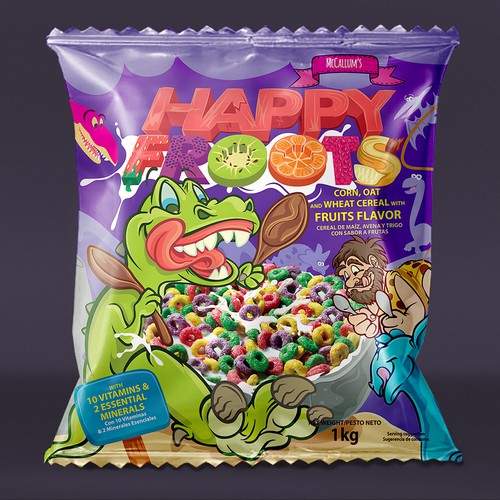 Happy Froots Cereal package bag