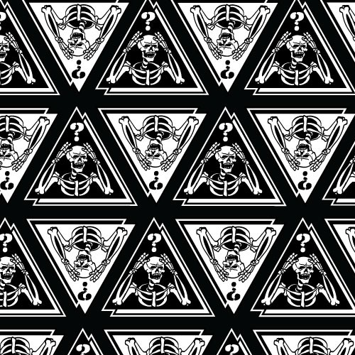 Meme Skull seamless pattern illustration for print merchandise