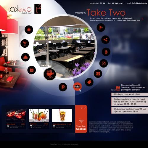 """Create website for restaurant/cocktailbar """"Take Two"""""""