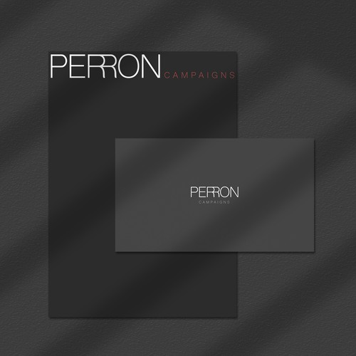 Logo and Identity for Perron Campaigns