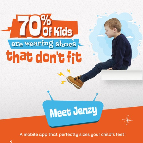 Landing Page for a Kid's fit technology company