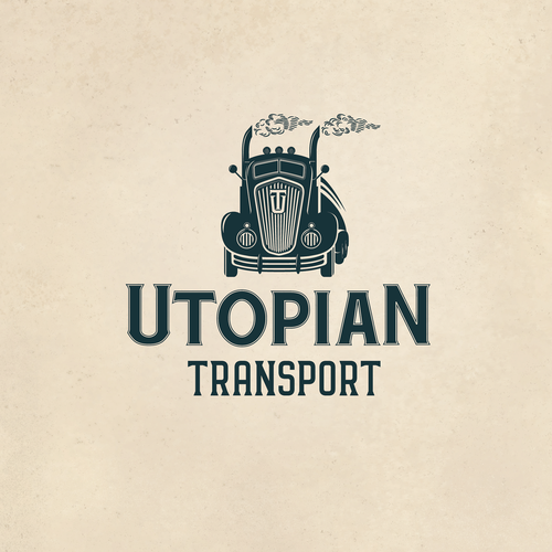 A Cool Vintage Logo for Utopian Transport