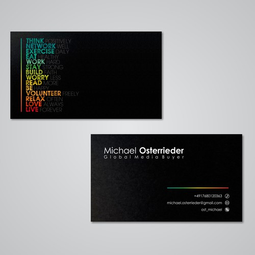 Thank you for creating an awesome business card