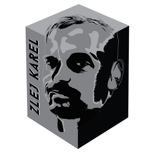 Zlej (sullen or evil) Karel - logo