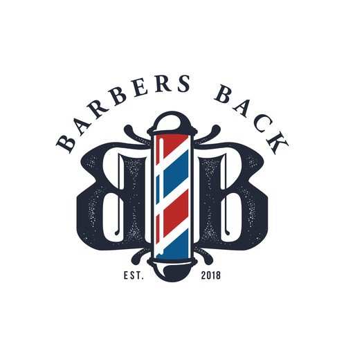 Vintage logo design for a barbershop apparel