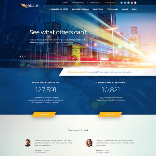 Telarus Index Page Design