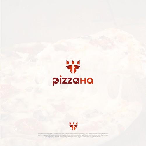 Pizza HQ bold food logo