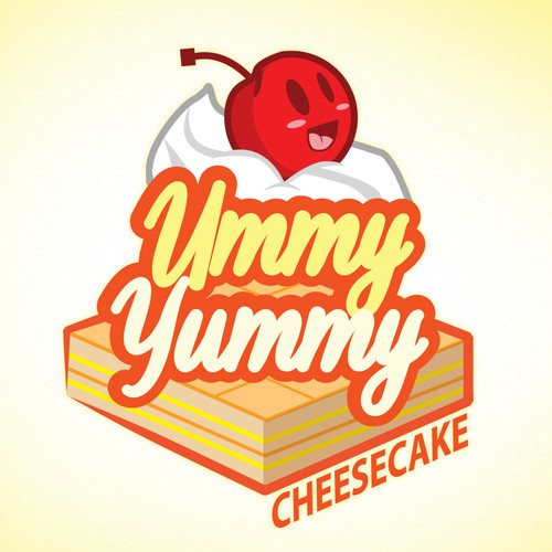 Create a simple, fun logo for Ummy Yummy Cheesecake!