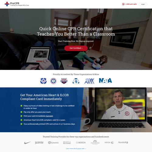 Landing Page Design for CPR Course