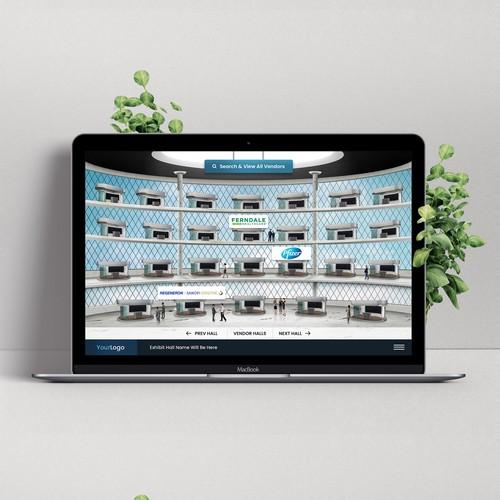 Virtual exhibit hall website