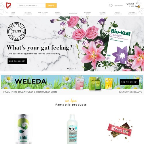 Ecommerce for natural products