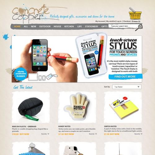 website design for Concrete Copper