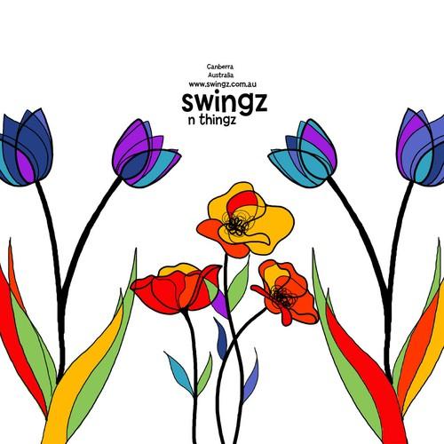 Floral design for a bag