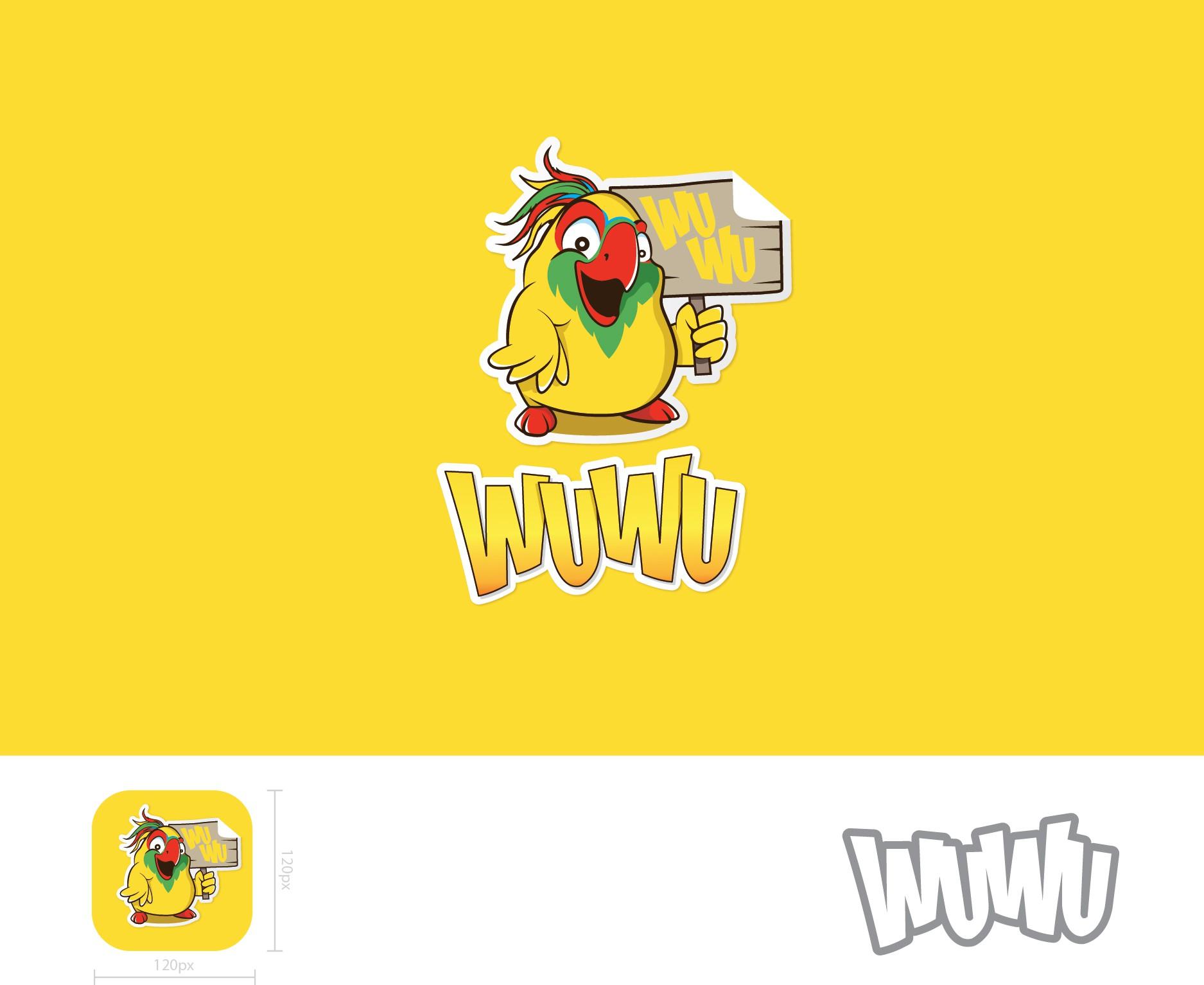 WuWu Sticker App Logo & Icon Design