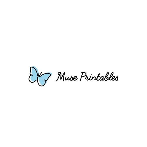 Cute Logo For A Crafty Printables Company