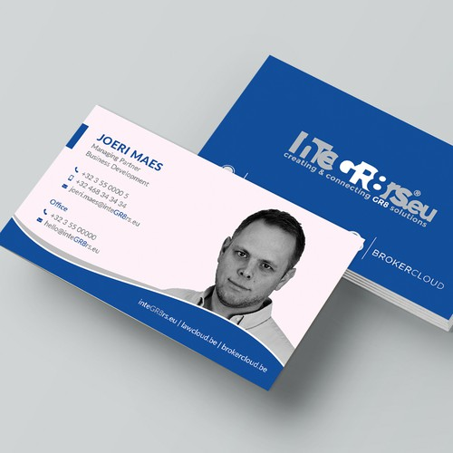 Business card with headshot