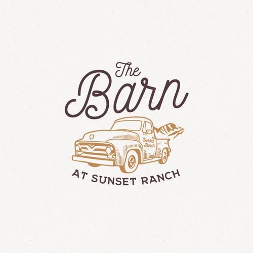 Vintage truck design for a barn wedding venue.