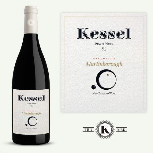 Design a captivating unique boutique wine Label KESSEL