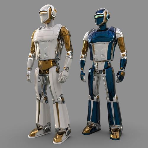 3D robot character.