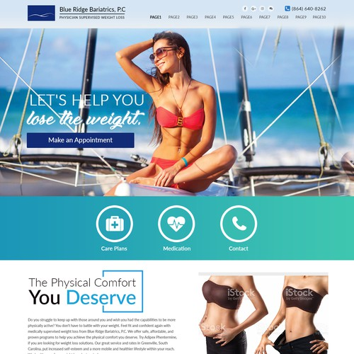 Weight loss clinic needs web design